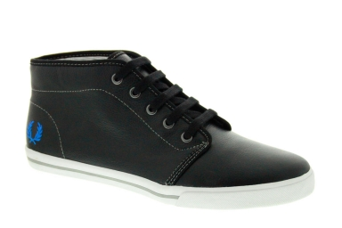 fred perry and fletcher leather black