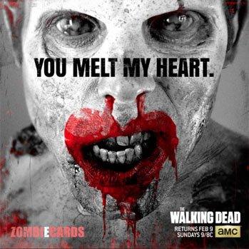 Zombie e card - The walking dead