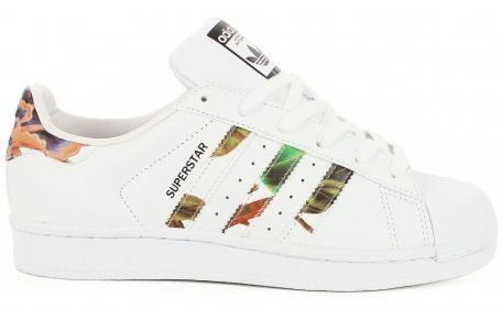 Baskets Adidas Superstar blanches pour femme