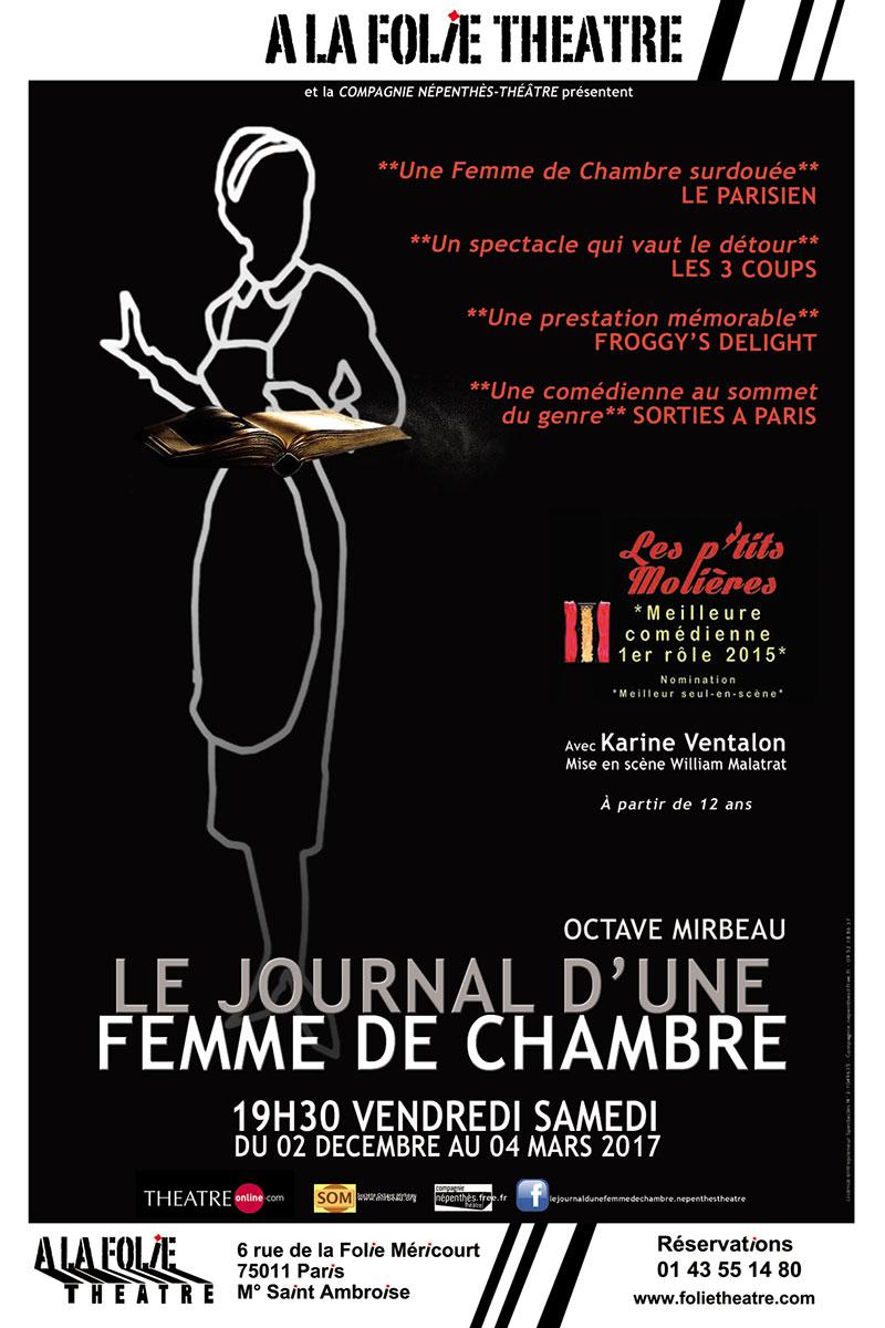 Affiche de la pièce de théâtre : Le journal d'une femme de chambre