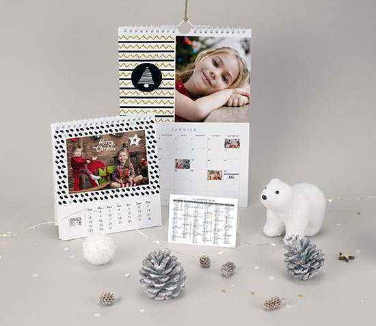 Cadeau de Noël : un calendrier imprimé