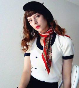 Style retro hôtesse de l'air