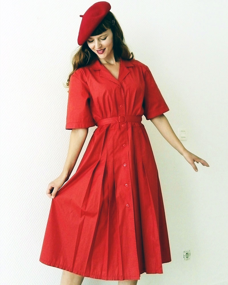 Style retro vintage chaperon rouge