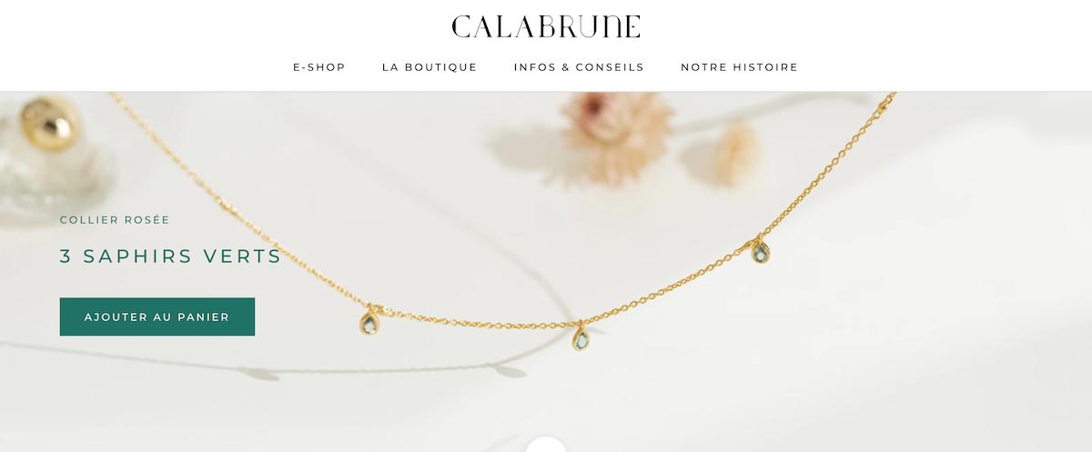 joaillerie fine Calabrune création bijoux France